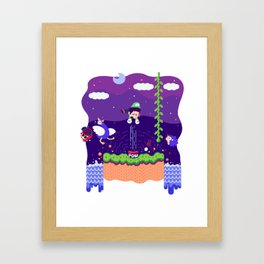Tiny Worlds - Super Mario Bros. 2: Luigi Framed Art Print