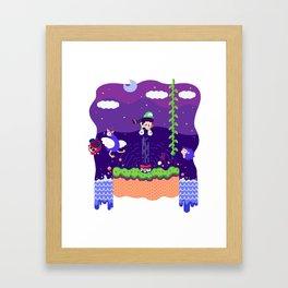 Tiny Worlds - Super Mario Bros. 2: Luigi Framed Art Print
