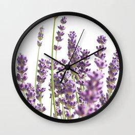 Purple Lavender #3 #decor #art #society6 Wall Clock