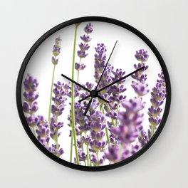 Purple Lavender #3 #decor #art #society6 Wall Clock