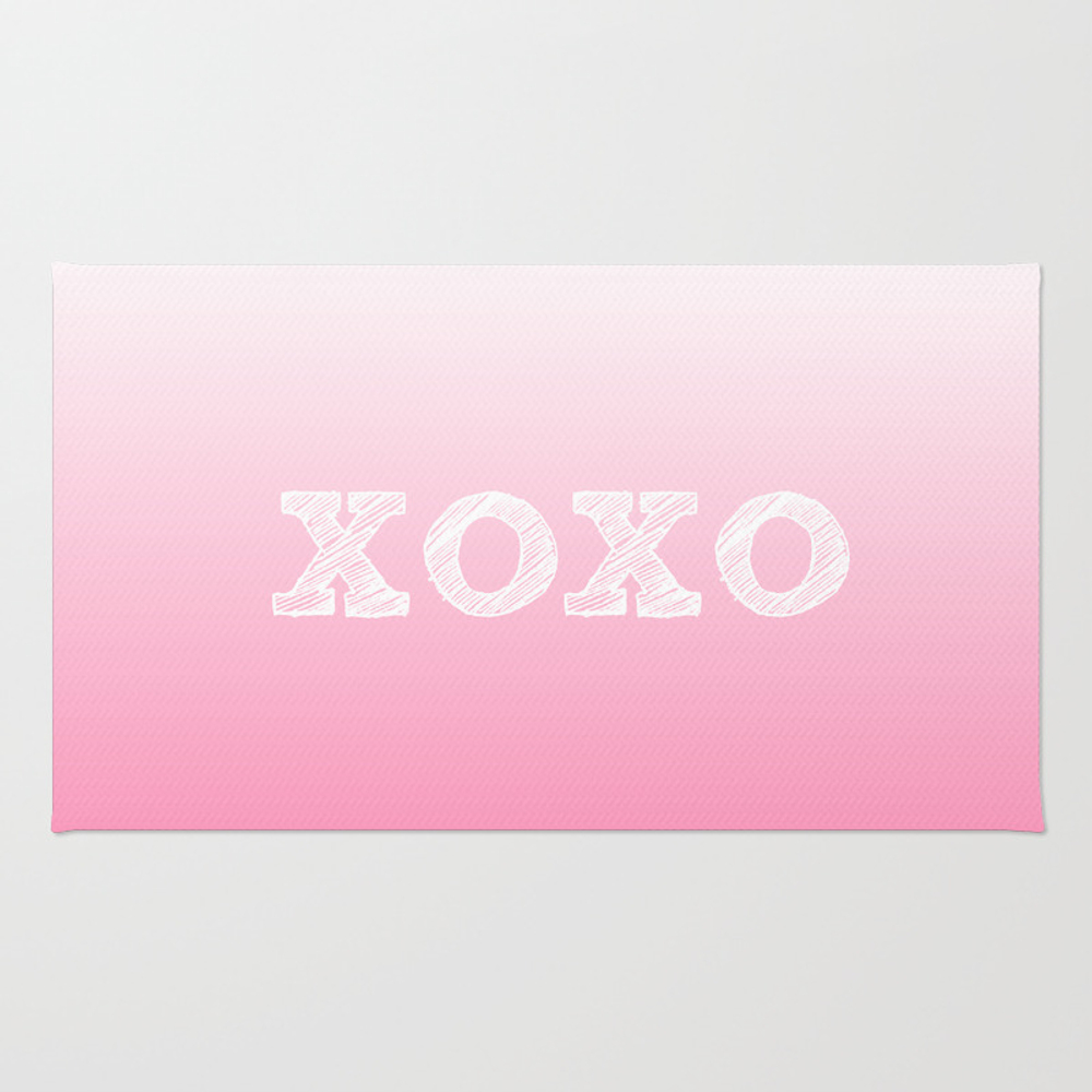 Valentine's Special Xoxo Rug by Sree RUG945487