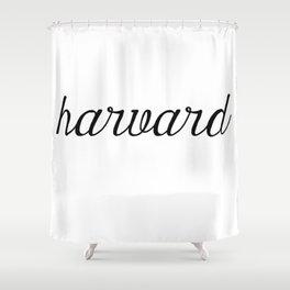 Harvard Script Shower Curtain