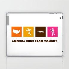 America Runs From Zombies Laptop & iPad Skin