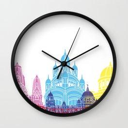 Kolkata skyline pop Wall Clock