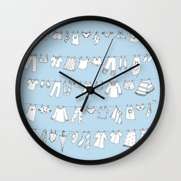 Hanging in the Wind Wall Clock