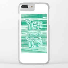 Yes means Yes - SB967 - Aqua Clear iPhone Case