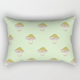 Capped Fellow pattern in green Rectangular Pillow