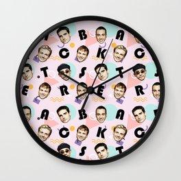 BackstreetBoys Pattern Art Wall Clock