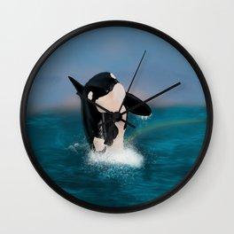 Orca Whale Wall Clock