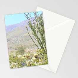 Spring in the Desert with Octotillo by Reay of Light Photography Stationery Cards