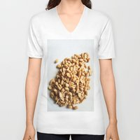 peanuts V-neck T-shirts featuring Salted Peanuts by Steve P Outram