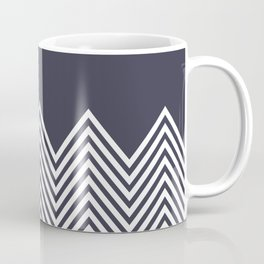 Chevron gray white cool pattern Coffee Mug