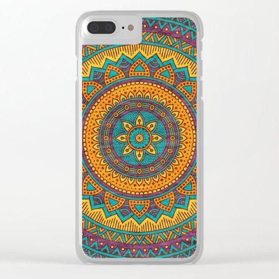 Hippie mandala 76 Clear iPhone Case