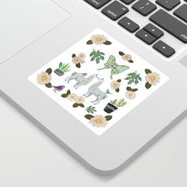 Llama and Luna Moth Sticker