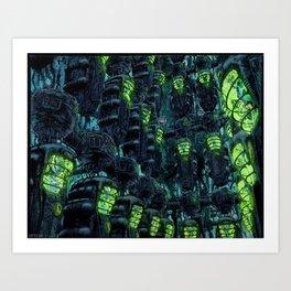 Kronos Colony Ark. Progeny Cocoons Art Print