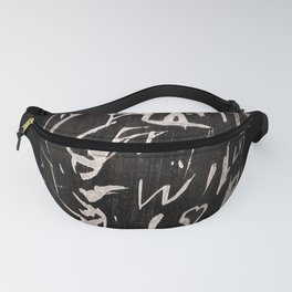 Writing On Bamboo - Hieroglyph Letters Fanny Pack