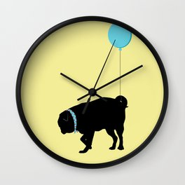 Sassy Pug Takes a Walk Wall Clock