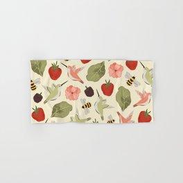 Hummingbirds in the Garden Pattern Hand & Bath Towel