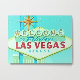Vintage Vegas Sign - Las Vegas Sign Metal Print