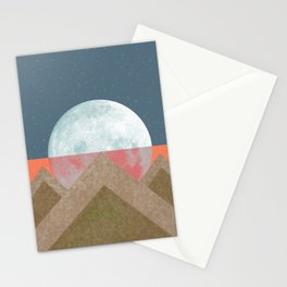 MOON BEHIND THE MOUNTAINS Stationery Cards