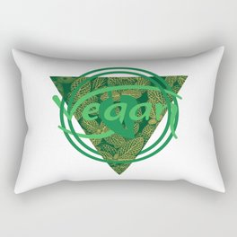 Vegan Monogram [Triangle] Rectangular Pillow