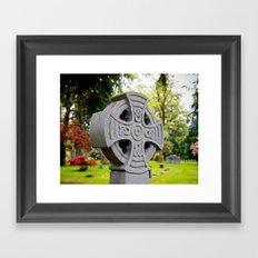 Cemetery beauty Framed Art Print