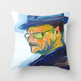 One of a Kind Bryan Cranston Painting as Walter White in Breaking Bad  Throw Pillow