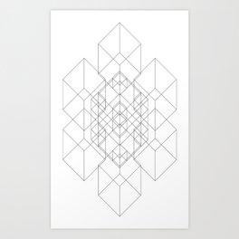 Transparent Cube Art Print