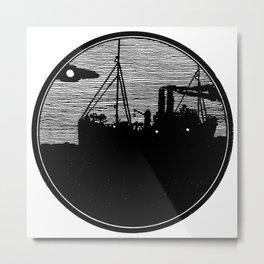 Silent boat. Metal Print