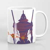 evangelion Mugs featuring Evangelion by Collectif PinUp!