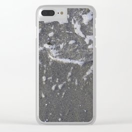 Wave + sand Kits Beach Vancouver Clear iPhone Case