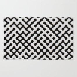 Black & White Truchet Tilling Mosaic Rug