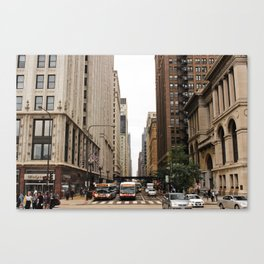 warmth in the city Canvas Print