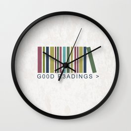 Good Readings are priceless Wall Clock