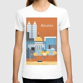 Atlanta, Georgia - Skyline Illustration by Loose Petals T-shirt