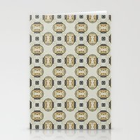 yellow pattern Stationery Cards featuring yellow by HeidiVaught