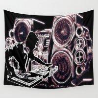 dj Wall Tapestries featuring DJ SPEAKERS by TrashShoot