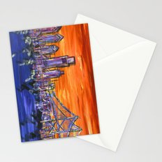 Ben Franklin Bridge Sunset Stationery Cards