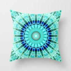 Mandala turquoise Throw Pillow