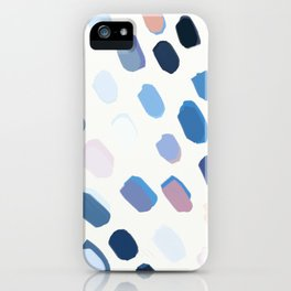 Blue Painted Dots iPhone Case