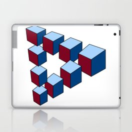 Geometry - Optical Illusion - Cubes in perspective - 3D - 3 focal points Laptop & iPad Skin