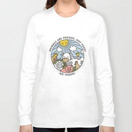 775bfd62 Vegan Animal Funny Humour Vegetarian Girls Womans Kids Hen Do Vegan T-Shirts  Long Sleeve