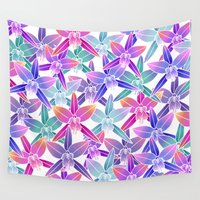 hawaiian Wall Tapestries featuring Hawaiian flowers by Marta Olga Klara