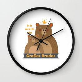 Kinder Großer Bruder Geschenkidee Hund Hündchen Wall Clock