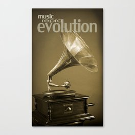 Music Evolution Canvas Print