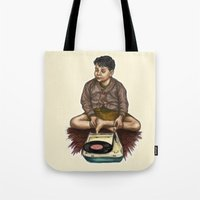 moonrise kingdom Tote Bags featuring Moonrise Kingdom by Laura O'Connor