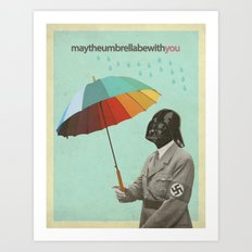 may the umbrella be with you Art Print