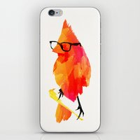 wesley bird iPhone & iPod Skins featuring Punk bird by Robert Farkas