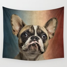 French bulldog, french flag ! Wall Tapestry