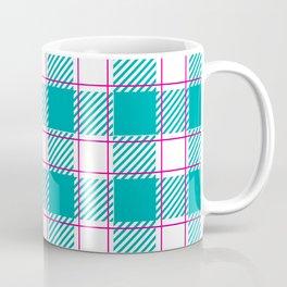 Twisted Robin Blue and Magenta Plaid Coffee Mug